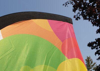 detail foto van beachflag